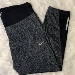 Nike Dry-Fit Animal Print Capri Leggings
